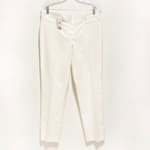 Brooks Brothers 346 Natalie fit chino pants white